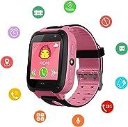 Kids SmartWatch, Waterproof Kids Watch with GPS Positionnement, SOS, Photograph, 1.44 Inch Screen, Call, Support SIM Smart B