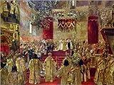 Posterlounge Acrylglasbild 130 x 100 cm: Studie für die Krönung von Zar Nikolaus II. von Henri Gervex/Bridgeman Images - Wandbild, Acryl Glasbild, Druck auf Acryl Glas Bild