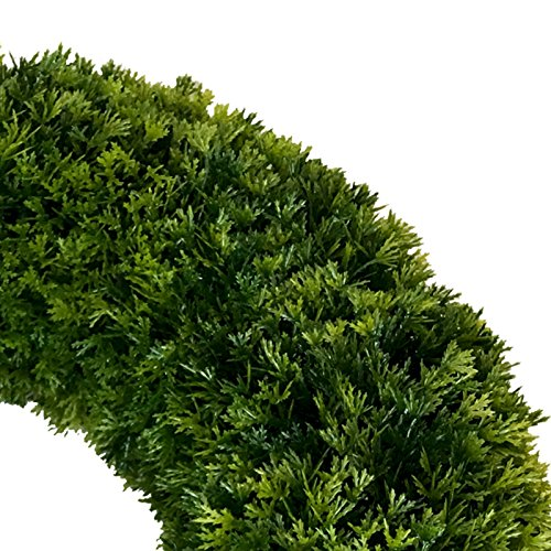 ∅ 40 cm künstlicher Kranz Buchsbaum (Thuja) Türkranz Tischkranz
