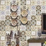 JY ART Fliesen-Aufkleber Küche Wand Fußboden Dekorative Fliesenaufkleber PVC Selbstklebend Keramikfliese Wandaufkleber Home Moderne Dekoration, 20cm*5m