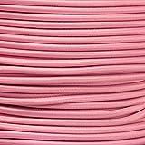 1m Gummikordel - Hutgummi - Rundgummi, hochwertig, extra-stark in 3mm, rosa