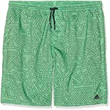 adidas Jungen Graphic M Length Badehose, Grün (Shock Lime/Trace Blue), 164