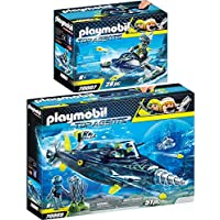 Playmobil Top Agents 2 pcs. Set 70005 70007 TEAM S.H.A.R.K. Drill Destroyer + Rocket Rafter