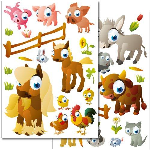 adesivi-da-parete-wandkings-animali-della-fattoria-set-adesivi-piu-di-35-adesivi-su-2-fogli-din-a4