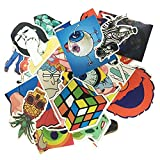StickerFactory (pcs) Best Vinyl Decal Stickers Pack - All Different Random Styles Top Trendy Stickers Pack - for Macbook Laptop Skateboard Snowboard Luggage Suitcase iPhone Car Bike Bumper Stickers Bomb Pack - Vintage Retro Pop Art Graffiti Super Cool Decal Stickers Pack by StickerFactory