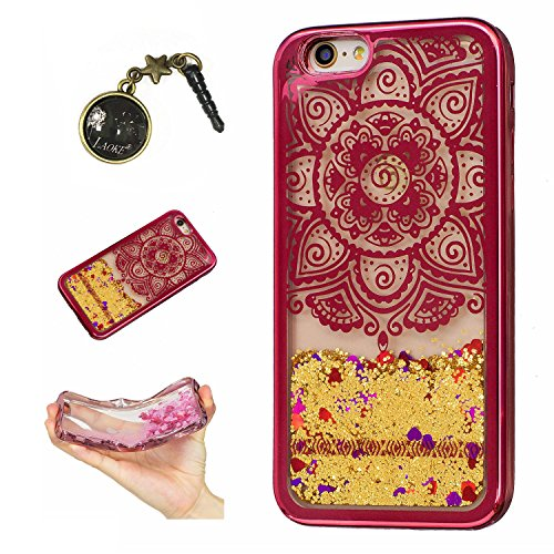 Laoke für Apple iPhone 6 Plus (5.5 Zoll) Hülle Schutzhülle Handy TPU Silikon Hülle Case Cover Durchsichtig Gel Tasche Bumper ( + Stöpsel Staubschutz) (5) 9