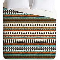غطاء لحاف Iveta Abona Brown Teal Navajo من Deny Designs King 15238-dlikin