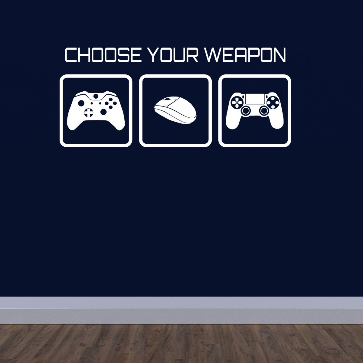 Large gaming wall sticker choose your weapon video game wall large gaming wall sticker choose your weapon video game wall decal amazon kitchen home amipublicfo Choice Image