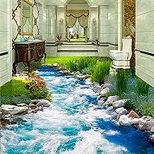 Lqwx Piso Moderno De Agua Adhesivo 3D Baño De Pintura Mural Mural De Pvc Autoadhesivo Foto