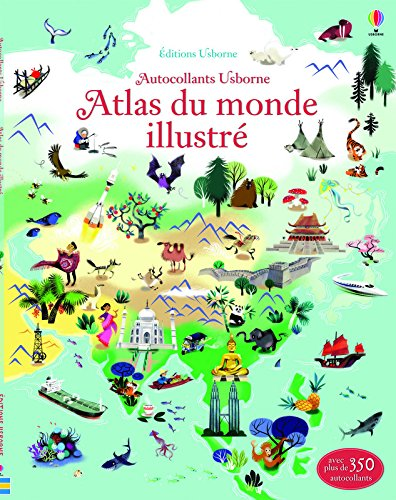 Atlas du monde illustr - Documentaires en autocollants