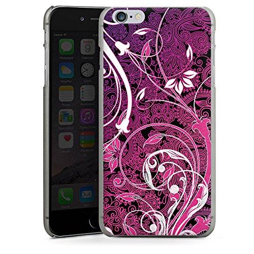 Apple iPhone X Silikon Hülle Case Schutzhülle Floral Ornament Blumen Hard Case anthrazit-klar