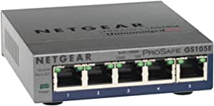 Netgear Gs105e 200uks Prosafe Plus 5 Port Gigabit Ethernet Switch