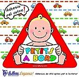 Detalles Infantiles Autocollant triangulaire pour voiture avec inscription «Petits à bord»