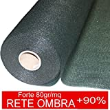 STI Rete Ombreggiante Ombra Telo Verde Giardino + 90% Frangisole Frangivista 2x10 mt
