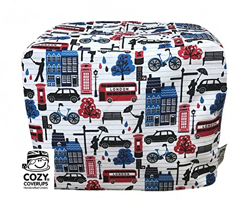 Cozycoverup® Staubschutz für Toaster in London Notes (Dualit New Gen Classic, 4 Scheiben) (Slice Dualit Toaster 4)