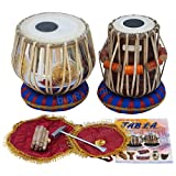 MAHARAJA Om Tabla Drum Set, 3KG Brass Bayan, Finest Dayan with Book, Hammer, Cushions & Cover (PDI-EC)