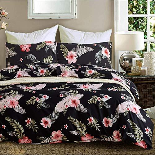 SHJIA Bettbezug Set Tröster Bettwäsche Set Print Bett Set Baumwolle Queen King Size F 229x229cm -