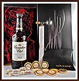 Geschenk Set Canadian Club Whisky + Flaschenportionierer + 10 Edel Schokoladen +4 Whisky Fudge kostenloser Versand
