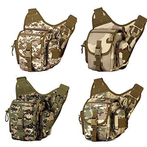 Nylontasche Tarnung kleine Satteltasche im Freien Armee Fans Satteltasche diagonal Paket Radsportpaket Kameratasche taktische Tasche Tarmung 3