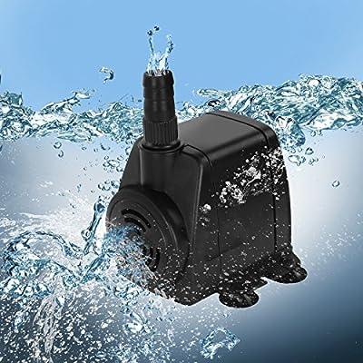 Jago Pompe à Eau Submersible pour Aquarium Étang Fontaine (Débit au Choix)