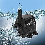 Jago - Pompe à Eau Submersible pour Aquarium Étang Fontaine 800 l/h (Débit au Choix)