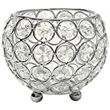 vincigant cuenco de cristal portavelas vela vela pilar Soporte para casa boda decoración, 10cm Dia.