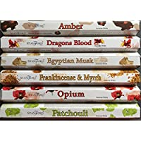Stamford Premium Hex Range Incense Sticks - Amber, Dragons Blood, Egyptian Musk, Frankincense & Myrrh, Opium &... preisvergleich bei billige-tabletten.eu