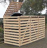 Promadino Mülltonnenbox Vario V Müllbox für 3 Mülltonnen Natur 512301