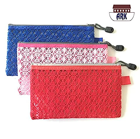 Versatile Decor Zip Up Make Up Mesh Plastic Pouch Bag - Available in 3 sizes (DL, )