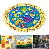 Yukio KinderToys - Splash Pad, 39 Zoll Sprinkler und Splash Play Matte, Sommer Garten Wasserspielzeug für Kinder, Baby, Hund und Haustiere