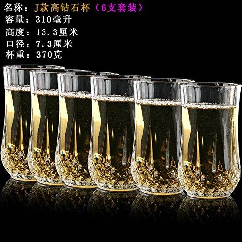ZBZQ-Glas Schale, Tasse Tee, Kreative, Bier Cup, ausländischen Wein, Whisky Glas, multifunktionale Tasse Tee, J Modell Six Pack (6 Bier Kostüm Pack)