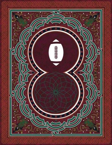 Monogram Football, American Sketchbook: Blank Art Pad Notebook Journal: Volume 56 (Monogram ArabesqueOne 150 Sketch)