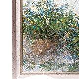 CottonColors Pellicola Per smerigliato Finestre geometria Decorativa,Autoadesive,Anti-UV,Controllo di Calore, Privacy 3Ft x 6.5Ft (90cm x 200cm)