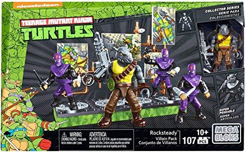 Mega Bloks Rocksteady und seine Band-Bösewichte, Ninja Turtles, Baukasten (Mattel - Hintergrund Turtle Ninja