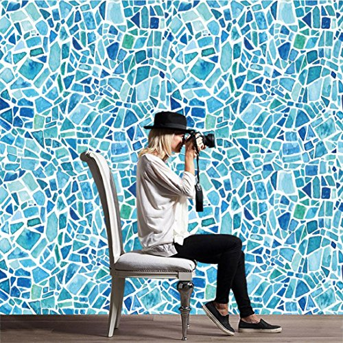DIY Adhesive Tile Wallpaper, Indexp 1 Roll Kitchen Bathroom Waterproof Moist Resistant Home Decor Vinyl Decal Stickers (20X500cm, Style G)