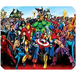 Ratón Pad Héroes Marvel Iron Man Gadget alfombrilla ratón Capitán América Mousepad Hulk oggettistica Lobezno