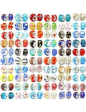 Buckets of Beads Zehn verschiedene Colored Murano Glas Bead Charms