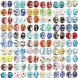 Buckets of Beads Cubos de Cuentas Diez Cristal de Murano Bead Charms