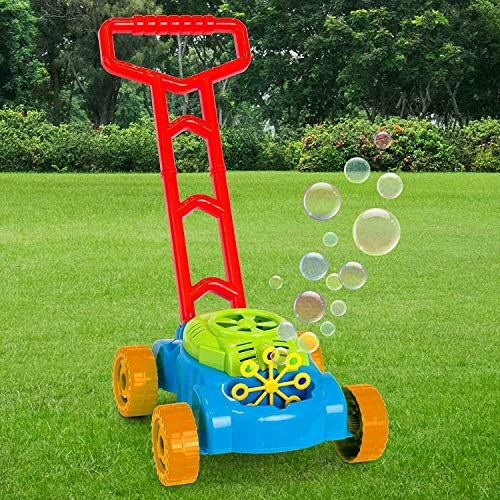 TOYLAND Cortadora de Burbujas de césped Empuje el Juguete Cortacésped - Juguetes al Aire Libre y Juegos de jardín
