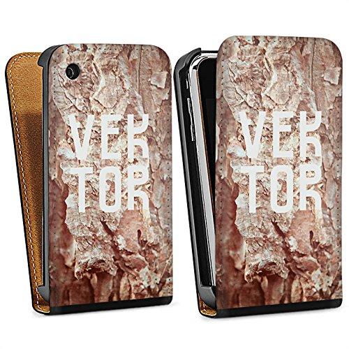 Apple iPhone 5s Housse Étui Protection Coque Grotte VEKTOR Pierres Sac Downflip noir