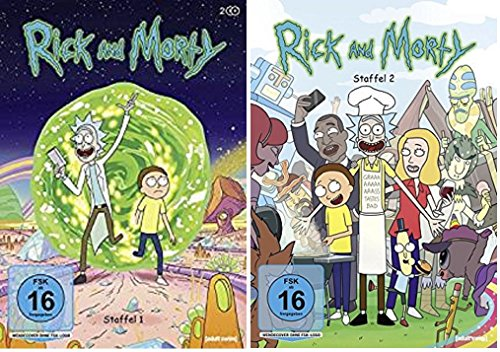 Produktbild Rick & Morty Staffel 1+2 / DVD Set