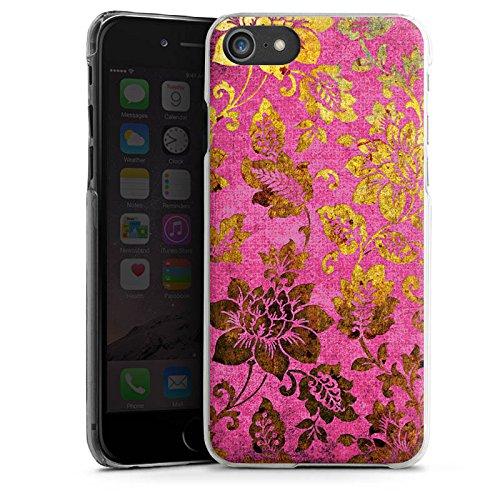 Apple iPhone X Silikon Hülle Case Schutzhülle Retro Bunt Blumen Hard Case transparent