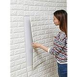 5Pcs Wall Sticker 3D Bricks Pattern Solid Self-adhesive Supple Wall Decor