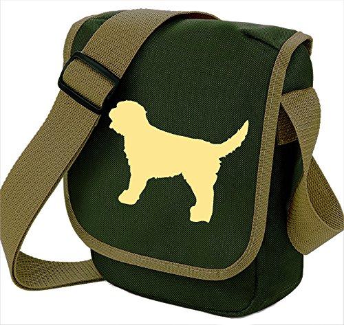 Bag Pixie - Borsa a tracolla unisex adulti Cream Dog Olive Bag