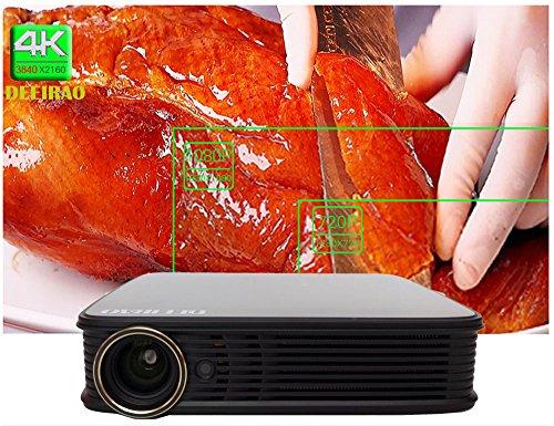 WiFi DLP 3d Projektor Portable 1280x 800Auflösung Unterstützung 4K 2160P HDMI 2d zu 3d bluray 3d USB android5.1Quad Core CPU Bluetooth4.0 - 2d-zu-3d-projektor