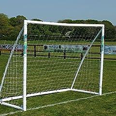 Idea Regalo - Porta da Calcio Samba 2.43m x 1.83m – Pali per Porta da Giardino, con Rete da Calcio, Mollette e Ganci.