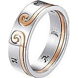 INRENG خواتم زفاف متطابقة له وحبها خاتم زفاف مبتكر الأزواج مانترا خاتم باند