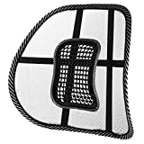 Maglia lombare della sella super comfort Sit tight supporto sistema sollievo dal dolore per sedia ufficio, con cinghia elastica di posizionamento e griglia rete
