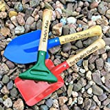 Personalised Kid's Garden Tools - Child's Toy Garden Set Trowel, Spade and Rake with Name