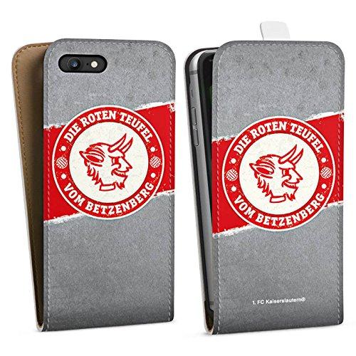 Apple iPhone 7 Hülle Premium Case Cover 1. FC Kaiserslautern Fanartikel FCK Downflip Tasche weiß